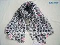 la moda de poliéster bufanda algunosimpreso bufanda de dibujos animados