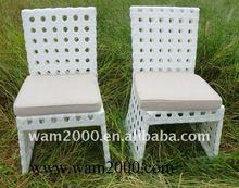 garden rattan circle weaving armless chair for outdoor