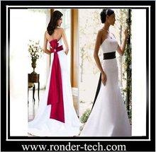 2012 Winter Empire Satin Belt Sweep Train Gorgeous Occasion Christmas Wedding Dresses
