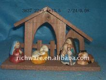 resin Nativity for christian statue
