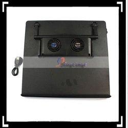 4 Ports HUB 2 Fans Cooling Pad For Laptop Black