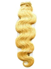 20 inch Grade A 22# blonde body wave indian remy hair weaving