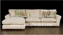 European luxury classic living room fabric corner sofa