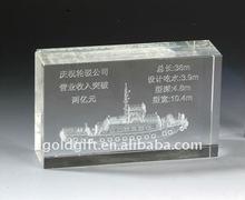 steamship style 3d crystal laser