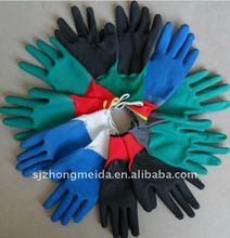 nitrile palm coated glove