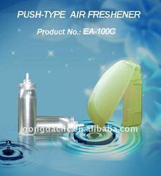 Push freshener, push type air freshener, toilet freshener