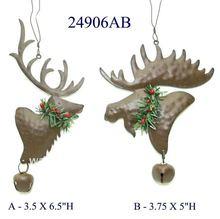 christmas artificial moose head decoration