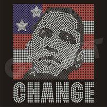 Barack Obama Portrait Hot-fix Rhinestud Motif