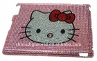 Hot selling!hello kitty diamond design case for ipad