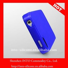 Blue soft silicone case/accessories for iPhone 4s