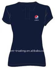 100% Cotton Short Sleeves Women Pepsi Polo Shirts