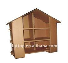 corrugated cardboard house