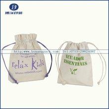 natural cotton drawstring bag for rice/food