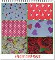 Prémio impresso de papel tecido de Heart & Rose tema