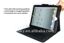 Ultra slim leather case for ipad 2 with touch pen slot