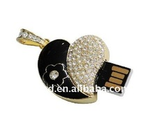 Fashion jewelry diamond usb flash drive