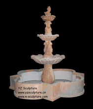 Garden Fish Fountain Sculpture (FTN-B284)
