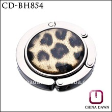 Hot Popular Round Folding Leopard Metal Bag Hook ,CD-BH854