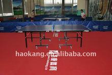Table-tennis vinyl floor covering