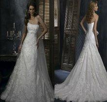SL-x0316 Vintage Lace Top Sweetheart neckline Open Back Wedding Dress