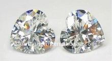 fancy beauty heart shape white cubic zirconia stone