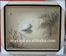 handmade oriental oil painting swan