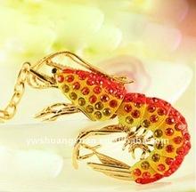 Fashion Metal Rhinstone Enamel Lobster KeyChain , Key Ring SY13787