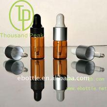 2.5ml brown cosmetic packaging dropper bottles, essential oil glass vials