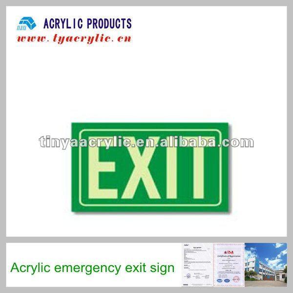 acrylic emergency exit sign