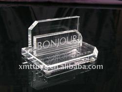crystal menu card holder