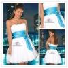 White Seductive Mini Strapless Backless Formal Cocktail Dresses 2012