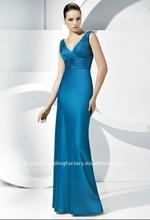 2012 Elegant V-neckline ruched custom-made bridesmaid dressCWFab3472