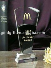 elegant crystal achiever award