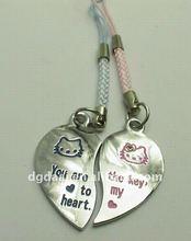 hello kitty lover alloy mobile strap