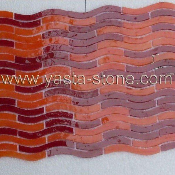 wave glass tile