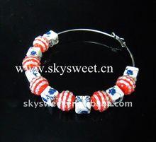 New Basketball Wives Earring,Resin Rhinestone Beads Earrings(SWTER1104)