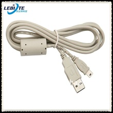 Great stability with ferrite core connector to go 6ft/1.83m Mini USB to USB A Cable in Gray