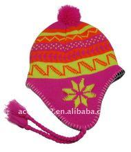 knitting pattern earflap hat BN628