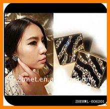 Diamond Earrings Leopard Zebra Ear Pin Fashion Jewelry ZHERWL-006201