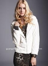 2012 fashion sweet fleece lady coat