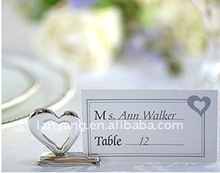 heart shape alloy cute seating card SC-003 new