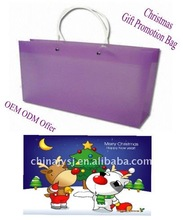 Mode JY-2001 cheap plastic PP shopping bags used as Christmas gift bag advertisement promotion bag