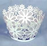2012 Laser cut white snowflake candy wrapper,free logo