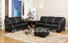 American Style Antique Leather Hotel Lobby Upholstery Sofa Set