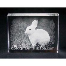 3d crystal cube laser rabbit