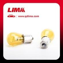 S25 miniature bulb 12V 21W BA15S yellow
