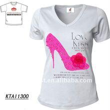 rhinestone t-shirt for lady 2012 new design