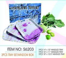 S6203 3PCS Melamine TRAY SET/WINDOW BOX