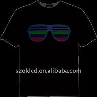 custom led glow T-shirt