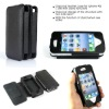 High Quality PU Leather case with stand for iphone 4S/4G